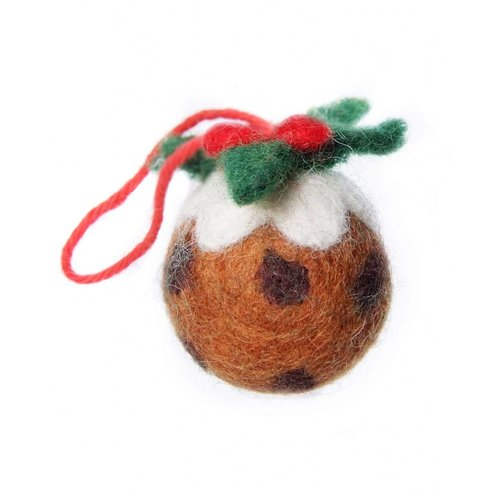Amica Accessories Christmas Pudding   Felt Decoration 125