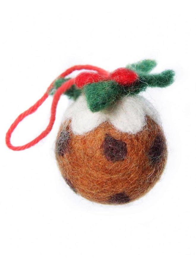 Christmas Pudding   Felt Decoration 125