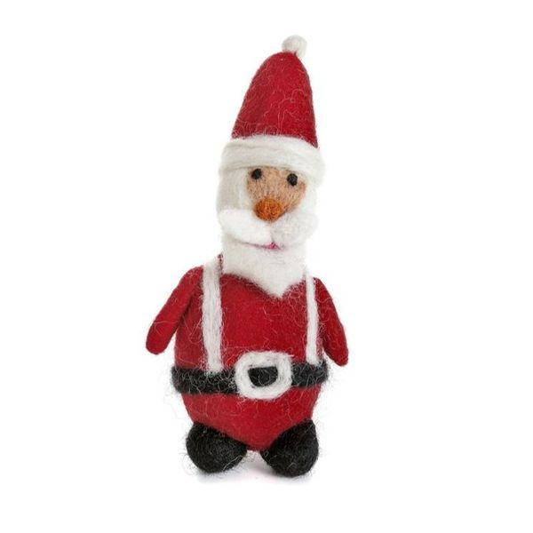 Santa with Belt and Braces  Felt Decoration 123