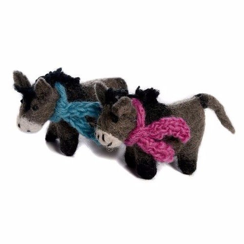 Amica Accessories Donkey with Pink scarf Felt small 024