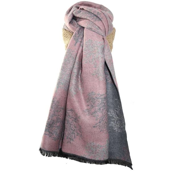 Trees design  heavy weight warm scarf