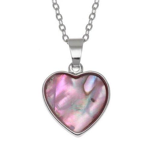 Tide Jewellery Corazón con incrustaciones de collar de concha Paua 108P