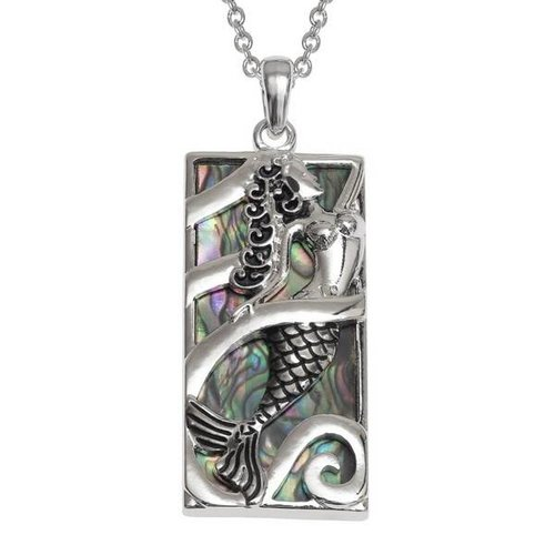 Tide Jewellery Mermaid Inlaid Paua shell  necklace 111P