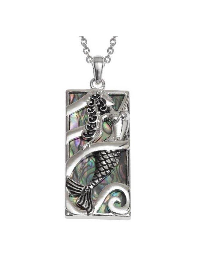 Mermaid Inlaid Paua shell  necklace 111P
