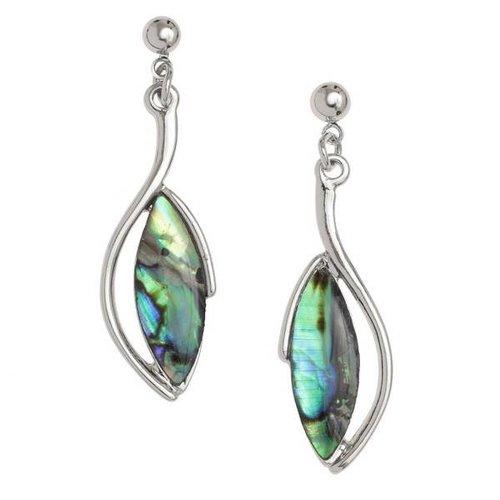 Tide Jewellery Oval  inlay paua shell stud earrings 116E
