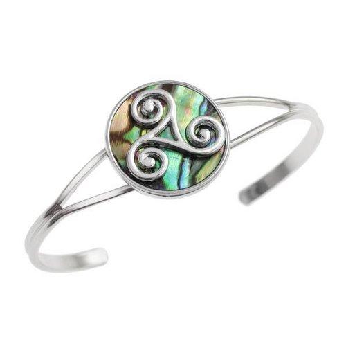 Tide Jewellery Triskele paua shell bangle 122B