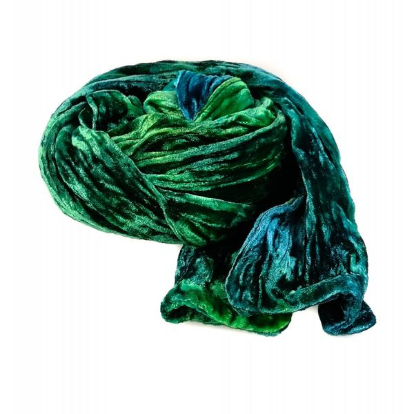 Water multi dyed Double Velvet scarf 083