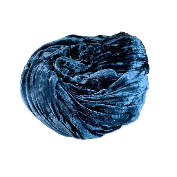Pañuelo de terciopelo doble de seda índigo 081