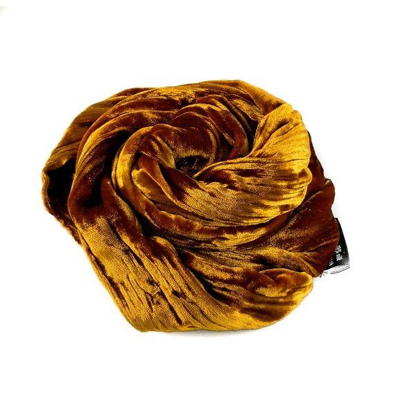 Schal aus doppeltem Samt aus Zimt-Seide 080