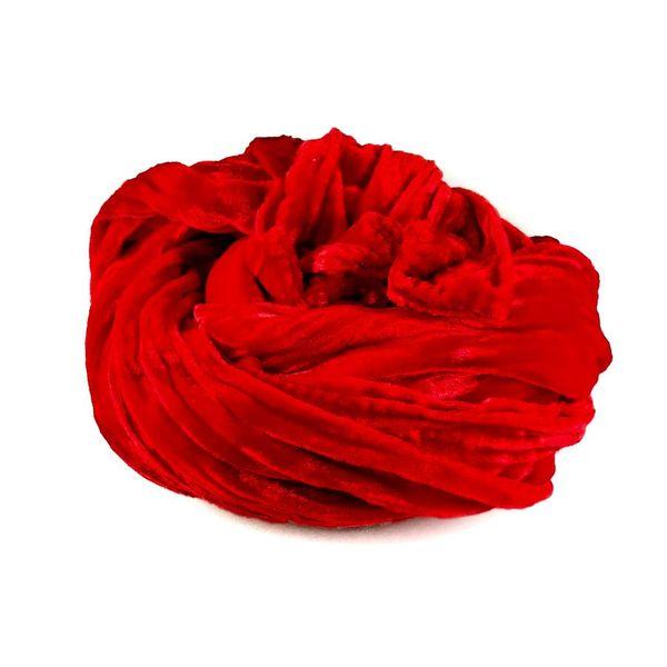 Pañuelo de terciopelo doble de seda amapola 071
