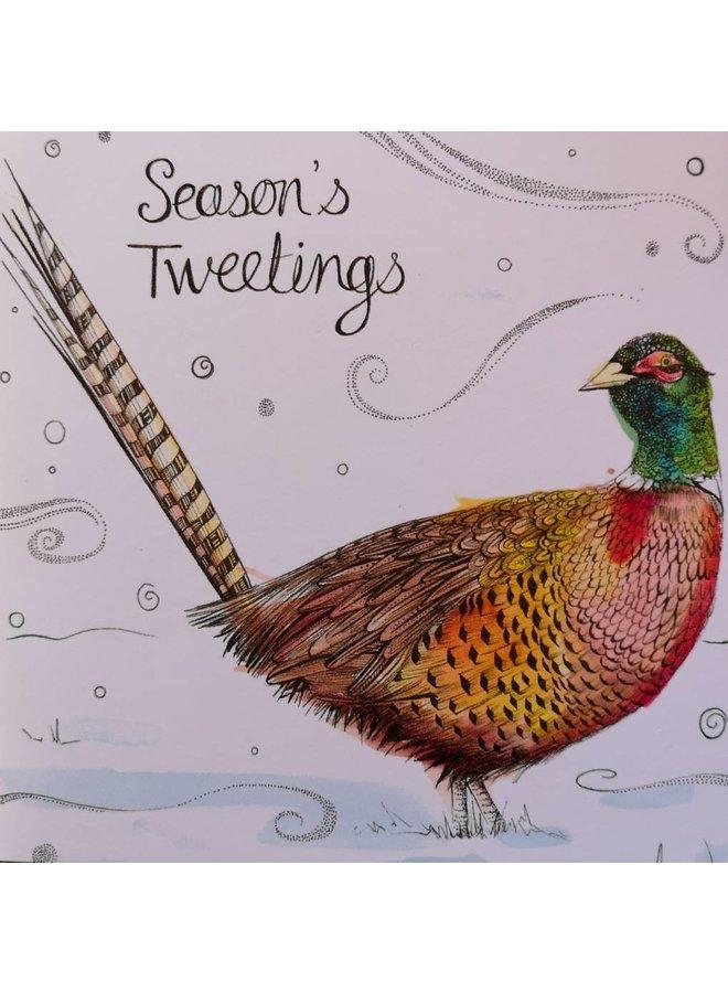 Pheasant Seasons Tweetings card 5 x 5 cm
