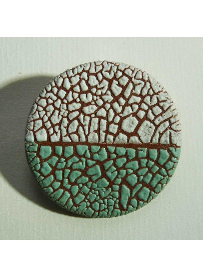 Ceramic  stoneware  Brooch