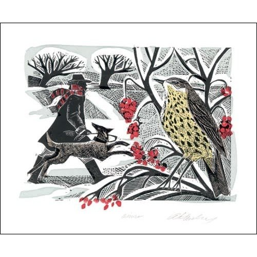 Art Angels Winter Thrush by Angela Harding