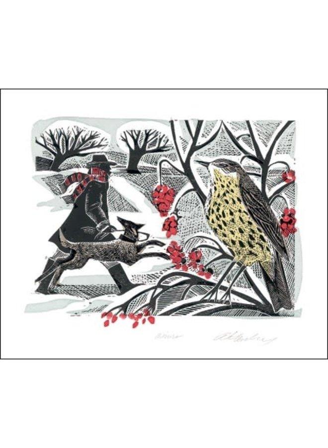 Winterdrossel von Angela Harding