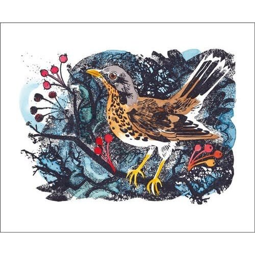 Art Angels Winter Thrush by Mark Hearld