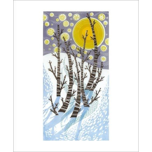 Art Angels Snow Birches by Angie Lewin