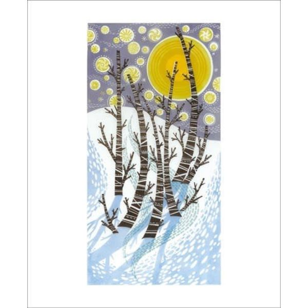 Snow Birches by Angie Lewin