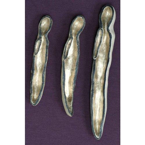 Jen Altman Silencio 1-3 set de gres y pan de oro.