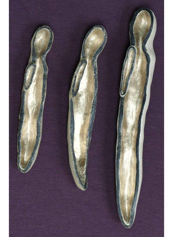 Stille 1-3 Set Steinzeug und Blattgold