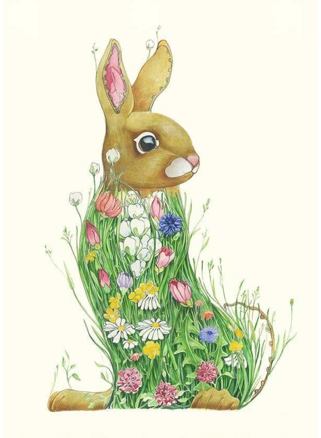 Bunny in a Meadow Card