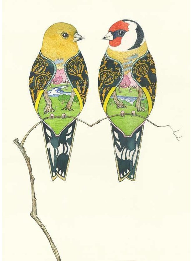 Goldfinches Card