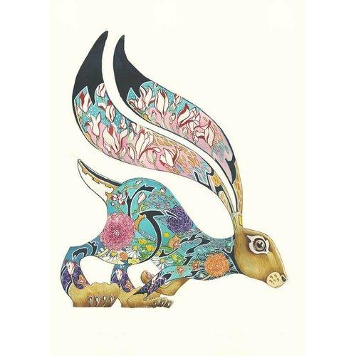 Daniel Mackie Turquoise Hare card
