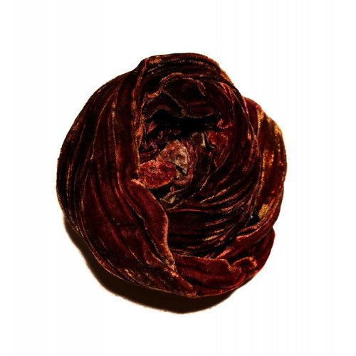 Lady Crow Silks Erde multi gefärbt Double Velvet Schal