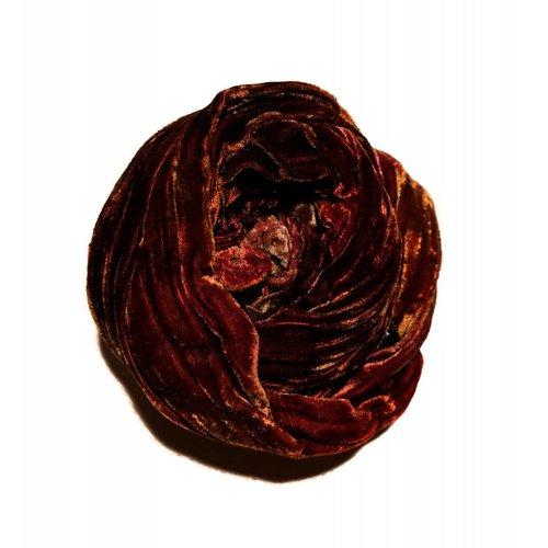 Lady Crow Silks Tierra multi teñida bufanda de terciopelo doble