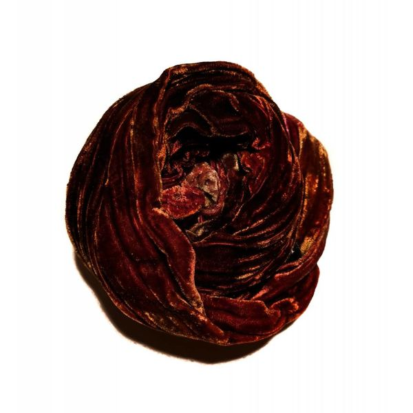 Tierra multi teñida bufanda de terciopelo doble