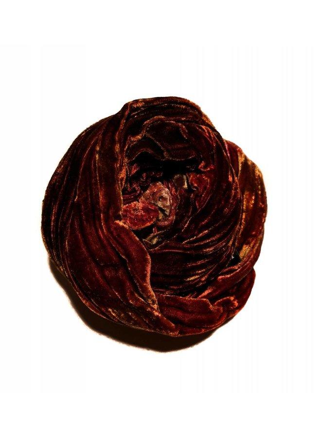 Erde multi gefärbt Double Velvet Schal