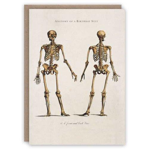 The Pattern Book Anatomía de una tarjeta de libro de patrón de traje de cumpleaños