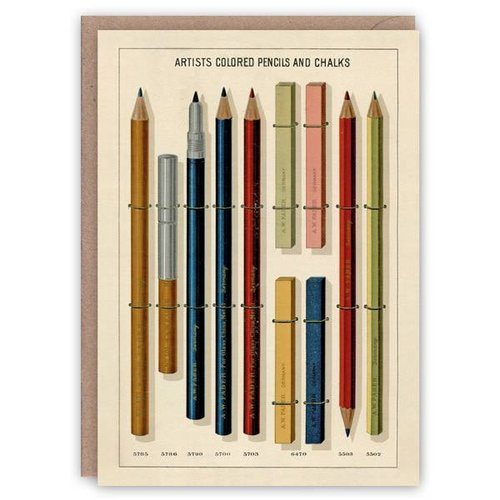 The Pattern Book Tarjeta de libro de patrones de lápices de colores y tizas para artistas
