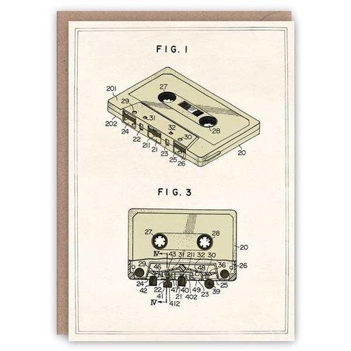 The Pattern Book Cassette compacta patrón de tarjeta de libro