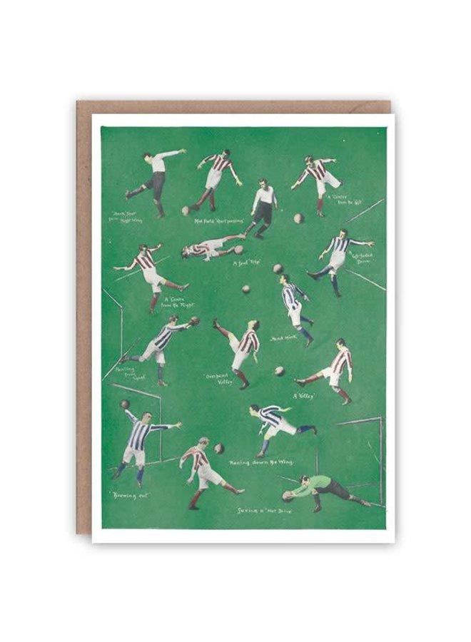 Fußball-Musterbuchkarte