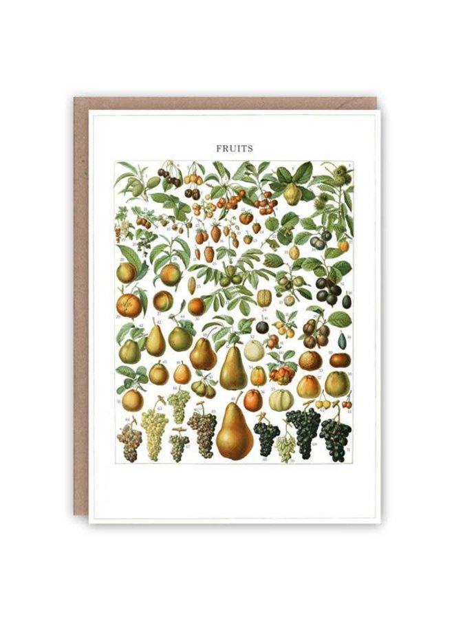 Früchte Muster Buchkarte