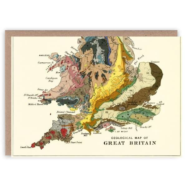 Great Britain pattern book card