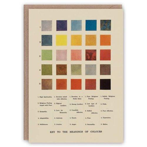 The Pattern Book Bedeutungen der Farben Musterbuchkarte