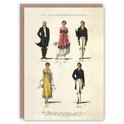 The Pattern Book Posiciones de la tarjeta de libro patrón de baile