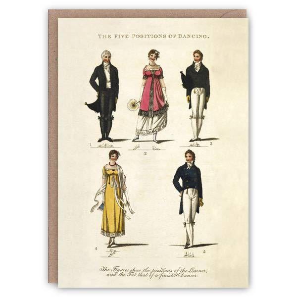 Posiciones de la tarjeta de libro patrón de baile