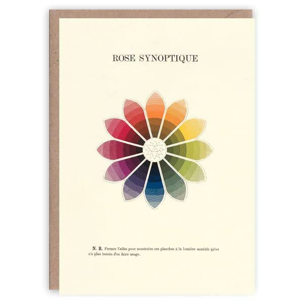 Rose Synoptique patrón tarjeta de libro