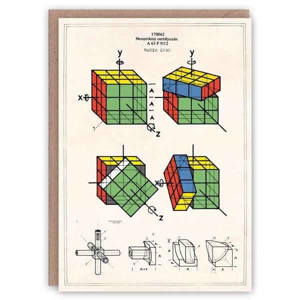 Rubic's Cube-Musterbuchkarte