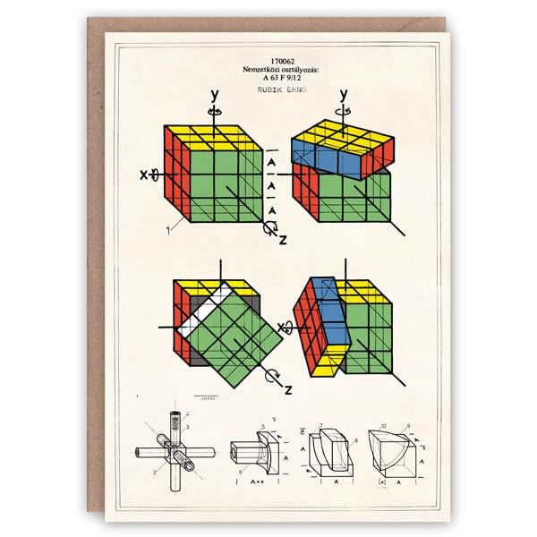 Tarjeta de libro de patrón de cubo de Rubic