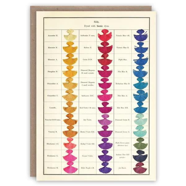 Silk pattern book card