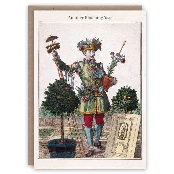 La tarjeta de libro patrón de jardinero