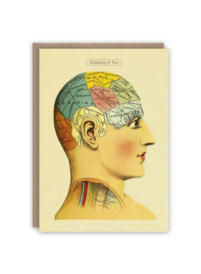 Denken an Sie Musterbuchkarte