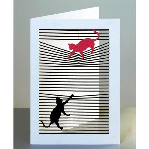 Forever Cards Katzen Laser geschnittene Karte