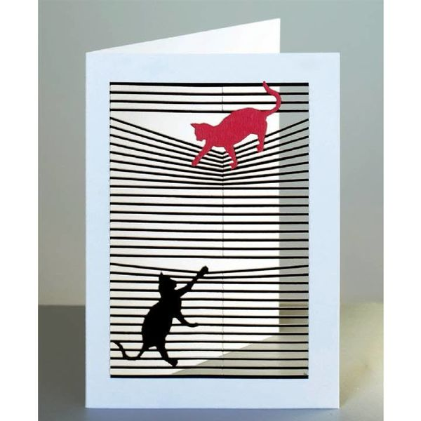 Cats Laser cut card