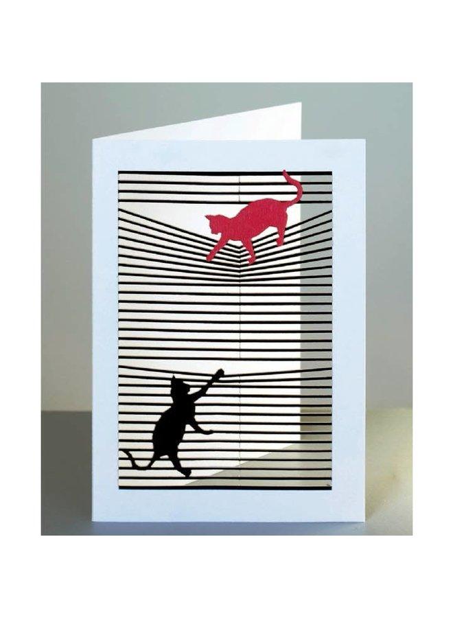 Katzen Laser geschnittene Karte