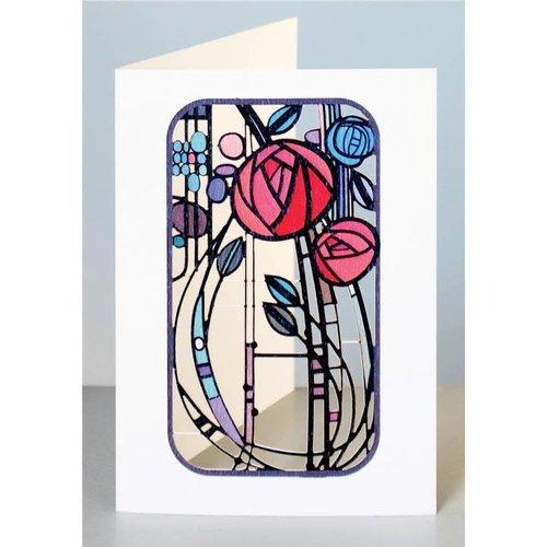 Forever Cards Abstrakte Rosen Laser geschnittene Karte