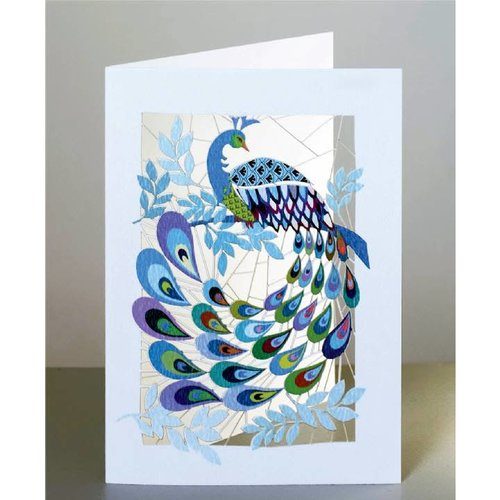 Forever Cards Peacock Laser cut card